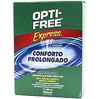 Alcon Opti-Free Express - Líquido para lentes de contacto, paquete de 2 frascos de 355 ml