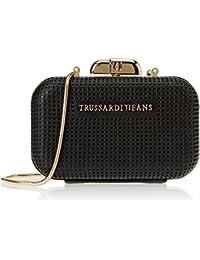 Trussardi Jeans 75b00208-1y000061, Pochettes femme, Nero, 16x12x5 cm (W x H L)