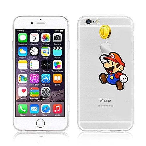 Disney Cartoons & Super Hero Transparent Klar TPU Soft Case für Apple iPhone 5SE, plastik, Micky & Minnie, APPLE IPHONE 5SE MARIO