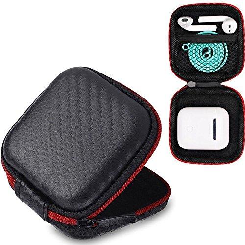 Prevently Tasche für In-Ear Kopfhörer Eva Für Apple Airpods Ohrhörer Case Box Größe Halter Hard Shell (Black)