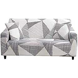 MaxDecro Housse de Canapé Impression Extensible, Revêtement de Canapé, Protecteur de canapé décoration (2 Places)