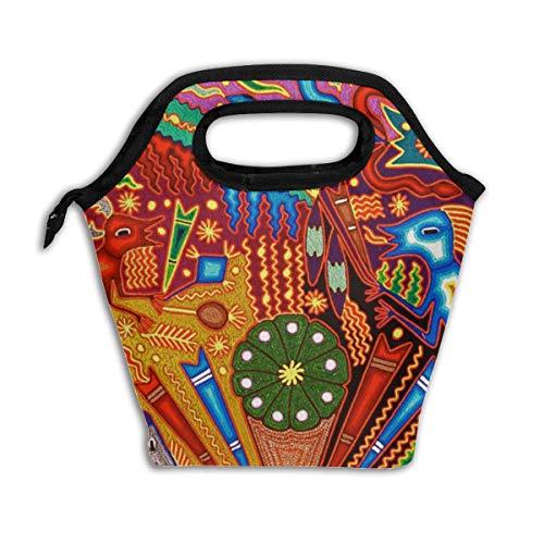 Bidetu Eiche Buff Diamond Pattern Lunch Bag Isolierte Lunch Box Wiederverwendbare Lunch Tote Kühler Organizer Bag Lunch Bags für Frauen, Männer und Kinder Erwachsene (Lunch-box Molle)