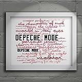 Kunstdruck - DEPECHE MODE - Violator - Unterzeichnet und Nummerierten Limitierte Auflage Typografie Ungerahmt 25 x 20 cm Wand Kunst Druck Text Lyrisch Plakat - Song Lyrics Art Print Poster