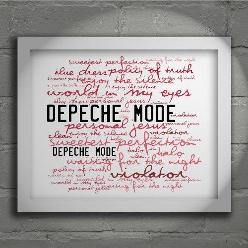 Preisvergleich Produktbild Kunstdruck - DEPECHE MODE - Violator - Unterzeichnet und Nummerierten Limitierte Auflage Typografie Ungerahmt 25 x 20 cm Wand Kunst Druck Text Lyrisch Plakat - Song Lyrics Art Print Poster