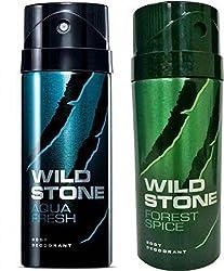 Wild Stone Aqua Fresh And Forest Spice Combo Set��(Set Of 2)