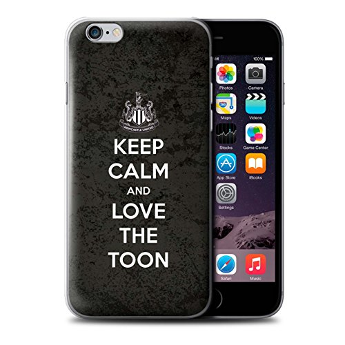 Officiel Newcastle United FC Coque / Etui pour Apple iPhone 6+/Plus 5.5 / Pack 7pcs Design / NUFC Keep Calm Collection Amour Toon