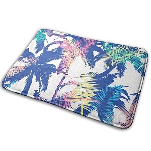 Door Floor Mat Area Rug Anti-Skid Foot Pad Coconut Tree Absorption Doormats Home Bathroom Entry Clean Step