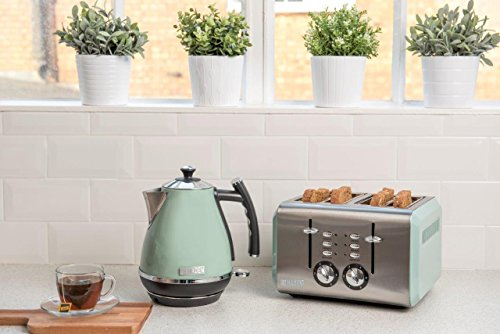 Haden 183774 Cotswold Sage Green 4 Slice Toaster