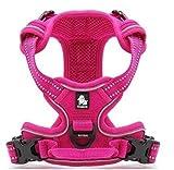 Pettom Hundegeschirr Geschirr für Hunde NO Pull Powergeschirr mit Heavy Duty Griff für Hundetraining oder Walking(Größe S-M-L-XL) (XL, Pink)