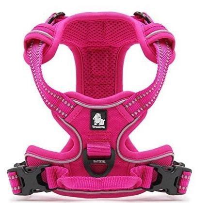 Pettom Hundegeschirr Geschirr für Hunde NO Pull Powergeschirr mit Heavy Duty Griff für Hundetraining oder Walking(Größe S-M-L-XL) (M, Pink) (Heavy-duty-griff)