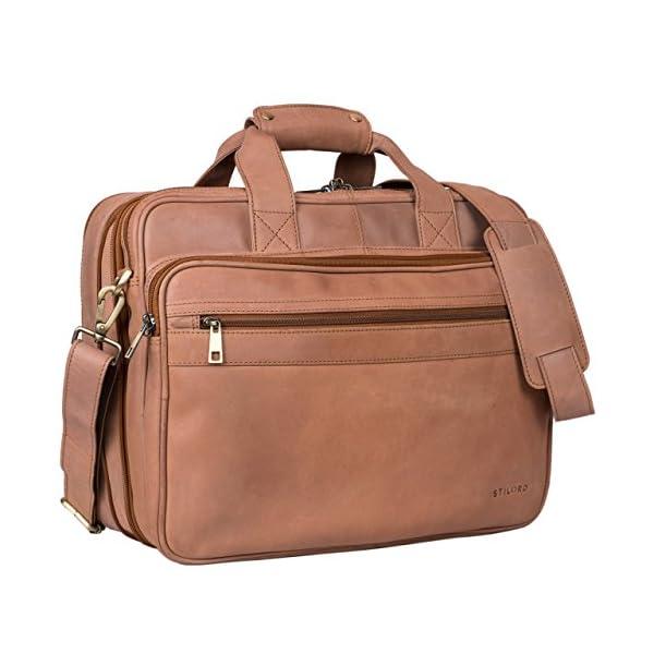 394fcac02e STILORD 'Leopold' Grande borsa in pelle da Insegnante Professore  Portadocumenti ...
