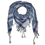 Superfreak Palituch Grundfarbe weiß°PLO Schal°100x100 cm°Pali Palästinenser Arafat Tuch°100% Baumwolle, Farbe: weiss/schwarz