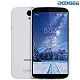 Mobile Phones Cheap, DOOGEE X6S 4G Dual SIM Unlocked Smartphones, 5.5 Inch HD IPS with Android 6.0 Phone - MT6735 Quad Core - 8GB ROM - 8.0MP + 5.0MP - MT6735 Quad Core - Long Standby Smartphone (White)