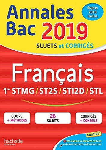 Annales Bac 2019 Français 1ères Techno par Franck Mazzucchelli