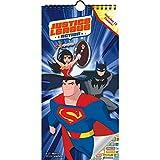 DC Comics Justice League Calendrier 2019 - Mini superhéros de luxe 2019 avec Superman, Batman Wonder Woman et plus (comprend 100 autocollants de calendrier)