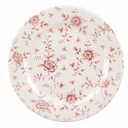 Churchill Vintage Prints Cranberry Rose - Chintz Teller - 27,6 cm, 6 Stück - Cranberry-rosen