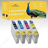 4 x Reinigungspatronen kompatibel zu EPSON CET 1811-1814 XXL-Version! Epson Expression Home XP-30, XP-33, XP-302, XP-305