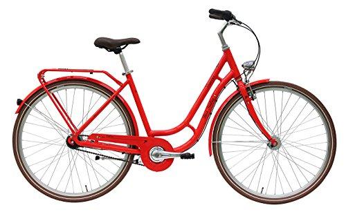 Damen Fahrrad 28 Zoll rot - Pegasus Bici Italia Cityrad - 7 Gang-Schaltung mit Rücktrittbremse