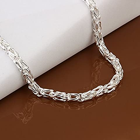 Necklace serpente della catena placcata argento, collana Chain Snake Men