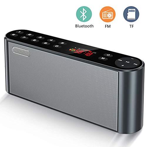 ieleacc Tragbarer Bluetooth Lautsprecher, Outdoor Wireless Stereo Lautsprecher, mit HD Audio und Freisprecheinrichtung, Bluetooth 4.2, FM Radio Lautsprecher,MP3 Musik Player