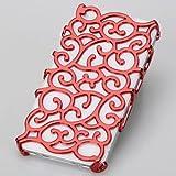 Coque Housse bijoux Platine Design Original Fleur De Palais Baroque Iphone 5 - ROUGE