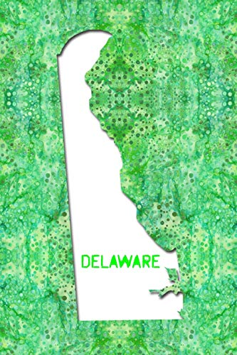 DELAWARE: 6x9 lined journal : The Great State of Delaware USA : The First State The Small Wonder Notebook -