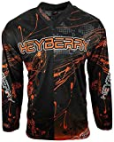 Heyberry Motocross MX Shirt Jersey Trikot schwarz orange Größe M