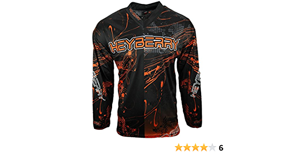Heyberry Motocross Mx Shirt Jersey Trikot Schwarz Orange Größe M Auto