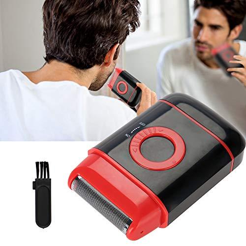 Barbe électrique rasoir, Tondeuse de précision, Rasoir électrique ultra-mince, Rasoir à barbe rechargeable sans fil noir/bleu/rouge, Meilleur cadeau pour les hommes(rouge)