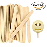 Ice Cream Stick Natural Wooden Lollipop Craft Sticks Great for Crafts Homemade and DIY Dessert Making(200pc)
