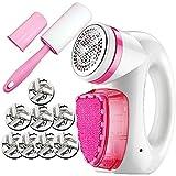 XMGJ Estuches para máquinas de Afeitar eléctricas Máquina de Afeitar de Tela- Máquina de Afeitar con Pilas Recargable y removedor de Pelusa Máquina de Afeitar portátil con 8 Cuchillas Salud y Cuidado