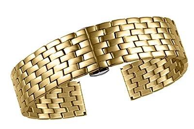 Correas de reloj de oro para las pequeñas muñecas de acero inoxidable de calidad recta extremos