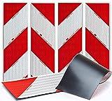 UvV 3MMAG4S - TüV Magnetische 3M 3410- Hochleistungsfolie 4fach Set mit Transportkarton je 141x564mm Kfz-Warnmarkierung Anwendungspaket - Magnetfolie bis 200 km/h