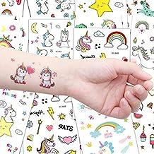 Lomire Tatuajes Temporales para Niños (20 Hojas), Tatuajes Pegatinas Cartoon Infantiles Regalo de