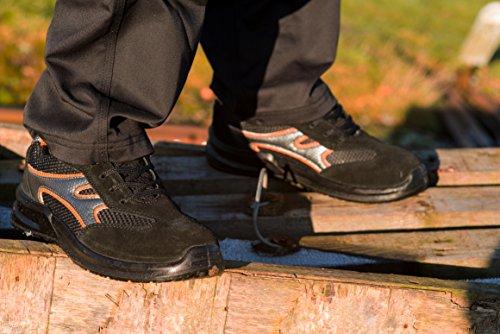 Scarpe da Ginnastica di Sicurezza Leggere e con Punta in Acciaio Scarpe Black Hammer da Lavoro e da Escursionismo fino alla Caviglia 5553 Nero