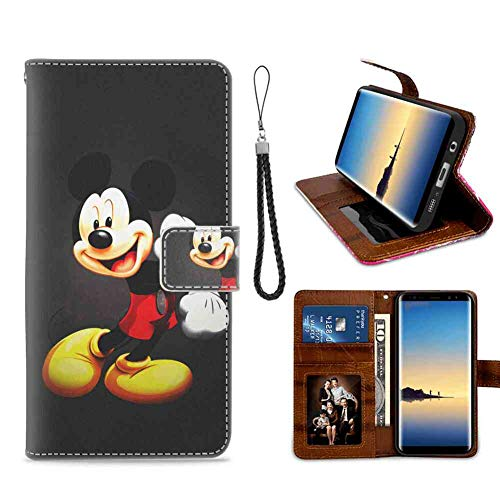 Étui Portefeuille en Similicuir pour Samsung Galaxy S7 [5,1 Mickey Mouse Kids Cartoon Disney
