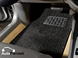 Autofurnish Anti Skid Curly Car Floor Mats (Black) Universal