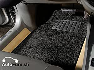 Autofurnish Anti Skid Curly Car Foot Mats (Black) for Maruti Baleno