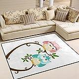 ingbags Super Weiche modernen Valentinstag Eule Bereich Teppiche Wohnzimmer Teppich Schlafzimmer Teppich für Kinder Play massiv Home Decorator Boden Teppich und Teppiche 160x 121,9cm, multi, 63 x 48 Inch