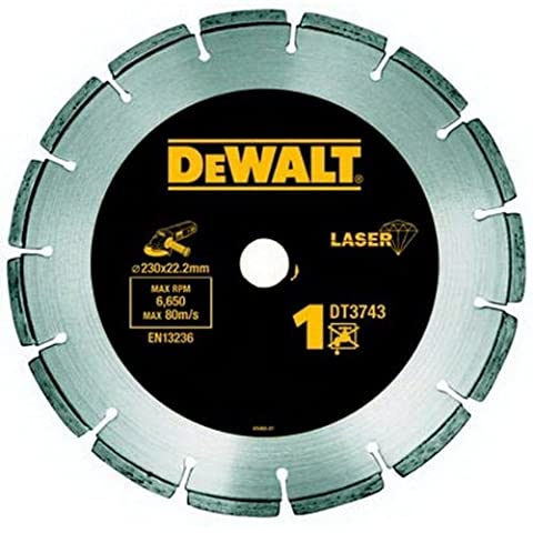 DeWalt-laser-welded diamond cutting wheel diameter (mm): Disc