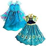 Eyekepper Traje de Disfraz de Elsa para Niña de 2-9 Años