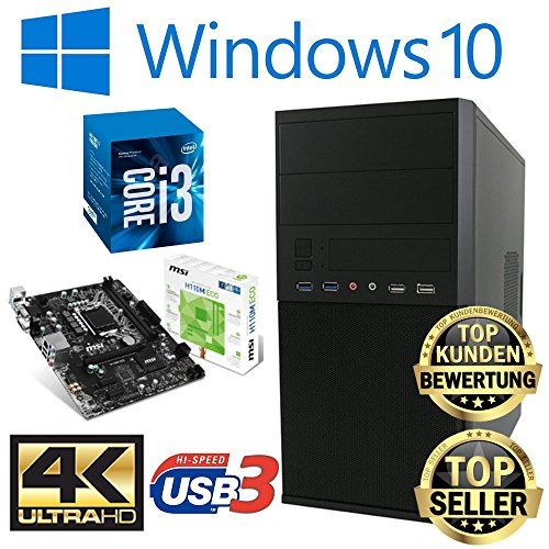 Master-PC Intel i3-7100, 8GB DDR4, 128GB SSD + 1TB HDD, Windows 10 Pro