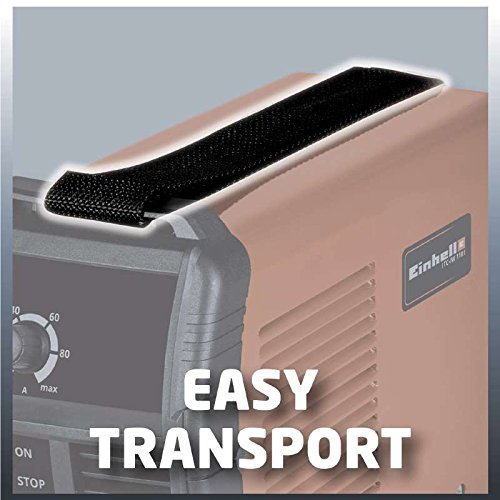 Einhell Inverter Schweißgerät TC-IW 110 (85 V, inkl. Masseklemme, Elektrodenhalter, Ventilatorkühlung, inkl. Tragegurt) - 5