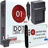 DOT-01 Brand Olympus Tough TG-5 Battery And Charger For Olympus TG-5 Waterproof Camera And Olympus TG5 Battery And Charger Bundle For Olympus LI92B LI-92B