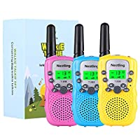 Nestling® Walkie Talkies for Kids Long Range Mini 2 Way Radios for Boys Girls Toddler Children, Outside Adventures, Camping, Hiking