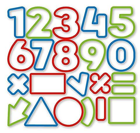 Ausstechformen Zahlen DELÍCIA KIDS, 21PCS (Französisch Dish)
