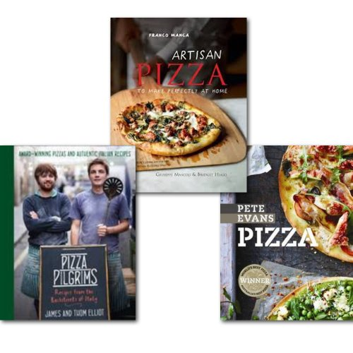 Pizza Recipes 3 Books Set, (Franco Manca: Artisan Pizza to Make Perfectly at Home, Pizza Pilgrims: Recipes from the Backstreets of Italy & Pizza)