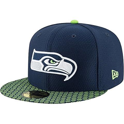 New Era NFL Sideline Seattle Seahawks Cap blue , Gr.7 1/4