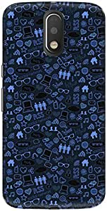 The Racoon Grip printed designer hard back mobile phone case cover for Motorola Moto G Play 4th Gen. (Blue Inter)