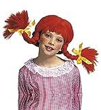 Pippi Langstrumpf Perücke für Mädchen